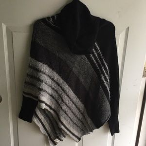 Dress barn pullover shawl with sleeves